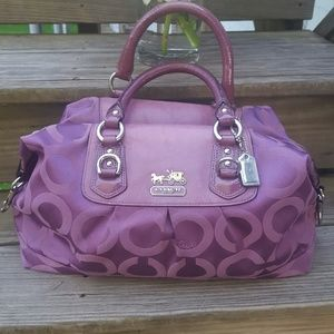 Dark Lilac Coach Madison Purse